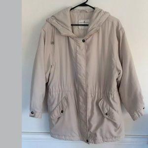 Towne By London Fog Women's Hooded Coat, Sz S Pet
